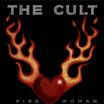 The Cult 'Fire Woman' single cover