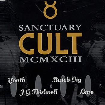 The Cult 'Sanctuary MCMXCIII' single cover