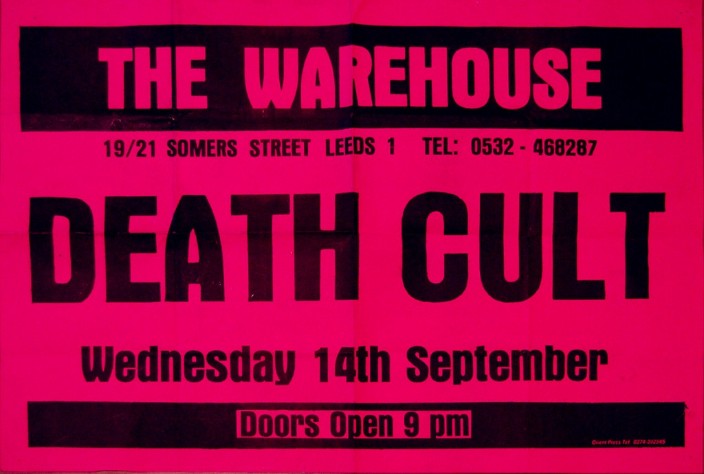 Billy Duffy's Death Cult Poster 14-09-1983