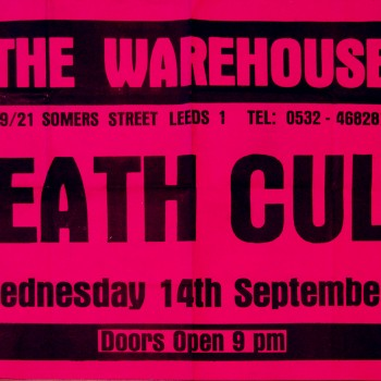 Death Cult Poster 14-09-1983