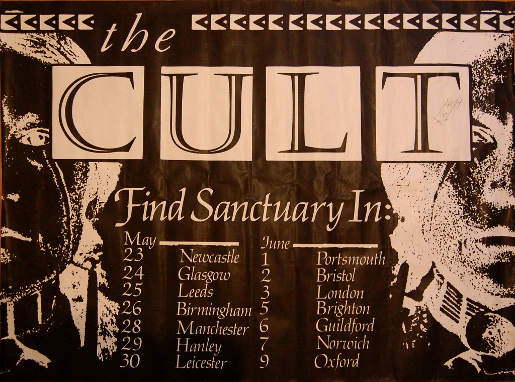 Billy Duffy's The Cult - 'Find Santuary' Tour Poster -1985