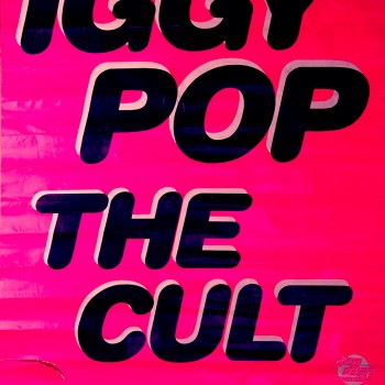 Iggy Pop and The Cult Poster 07-07-1987