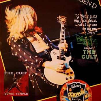 Billy Duffy Gibson Les Paul Poster – 1990