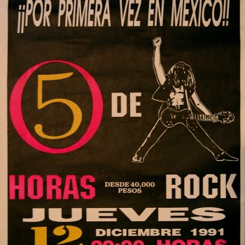 The Cult – Mexico Gig Poster 12-12-1991