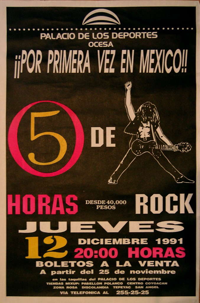 Billy Duffy's The Cult - Mexico Gig Poster 12-12-1991