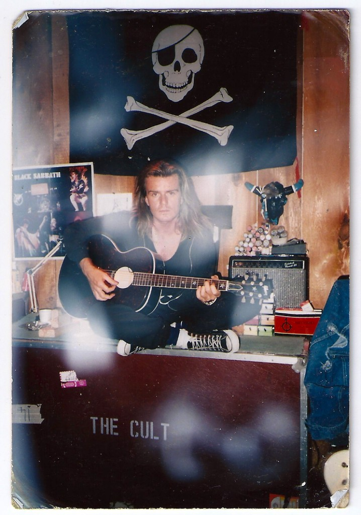 Billy Duffy in the studio in Vancouver - 1988