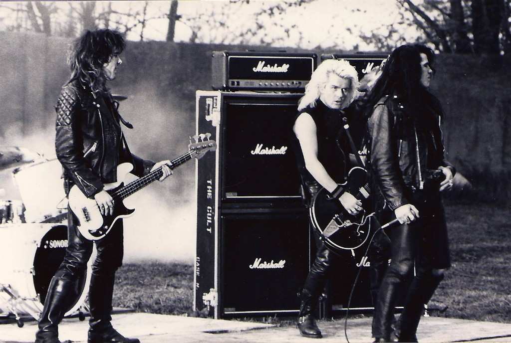 Billy Duffy filming The Cult's 'Lil Devil video.