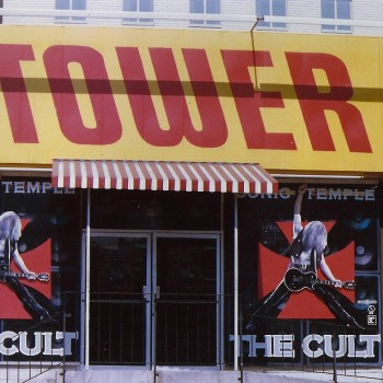 Sonic Temple takes over the window of Tower Records in Hollywood