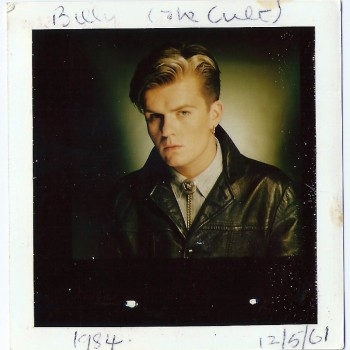Polaroid test from The Cult Dreamtime LP photo shoot 1984.