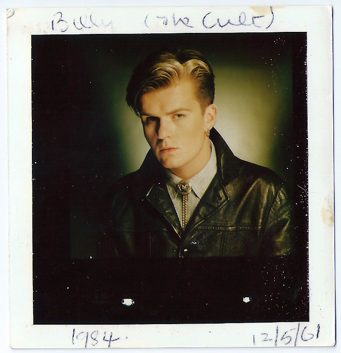 Billy Duffy Polaroid test from The Cult Dreamtime LP photo shoot 1984.