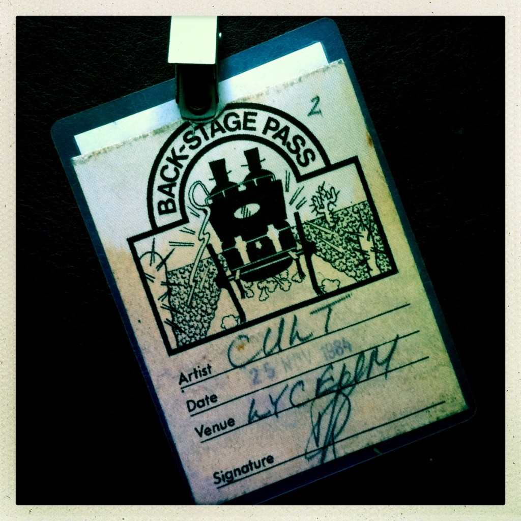 Billy Duffy's Backstage Pass - The Cult at London Lyceum 25-11-1985