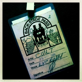 Billy's Backstage Pass – The Cult at London Lyceum 25-11-1985