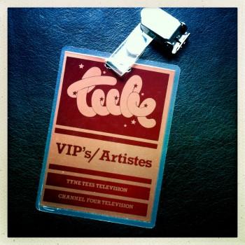 Billy's Artist Laminate for UK TV music show The Tube