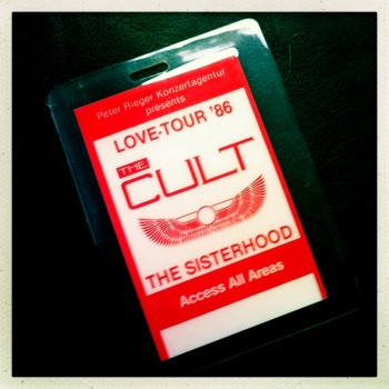 Billy's Laminate from The Cult Love Tour 1986