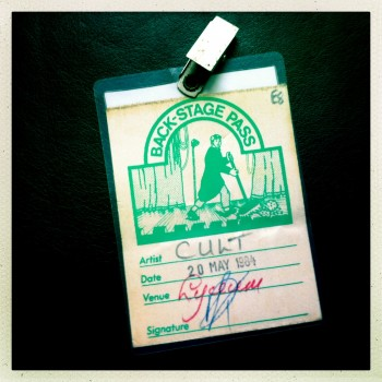 Billy's Backstage Pass – The Cult at London Lyceum 20-05-1984