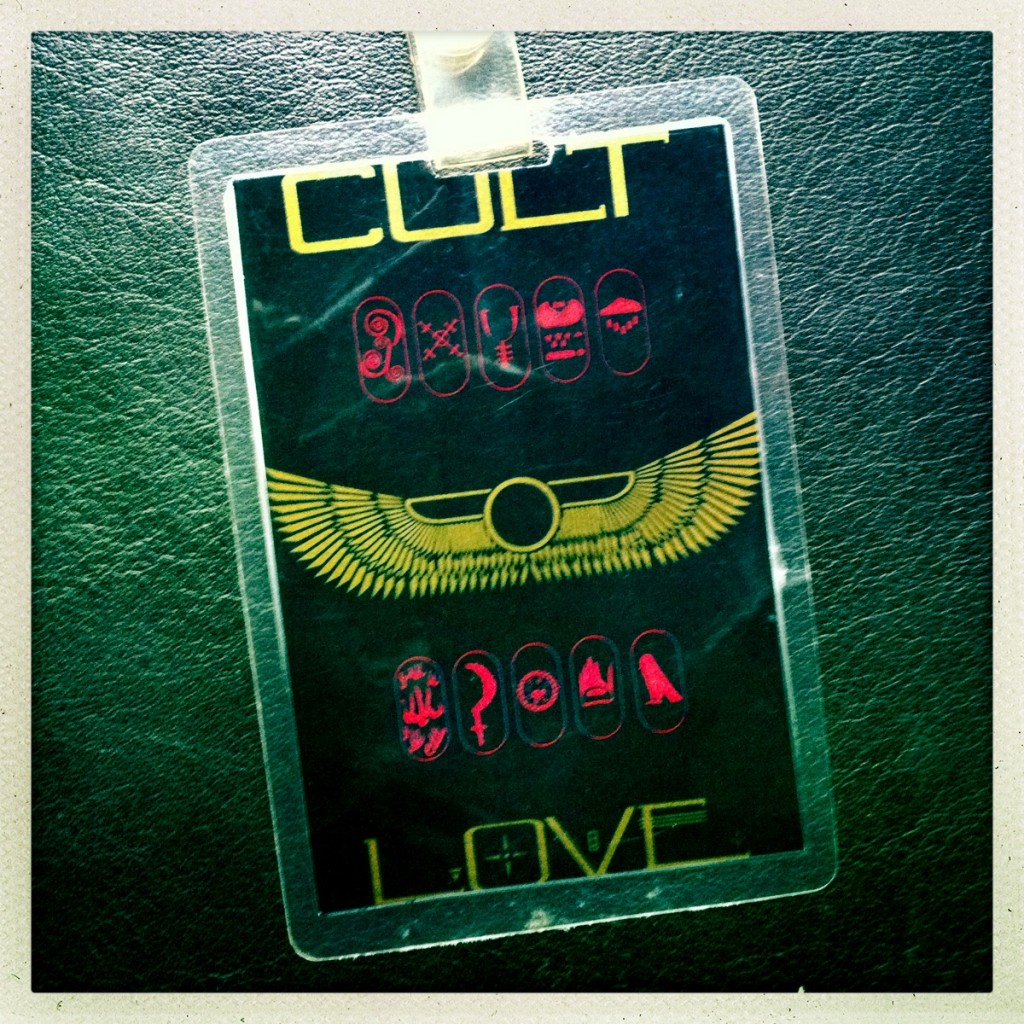 Billy Duffy's Laminate from The Cult Love Tour 1985 (front)