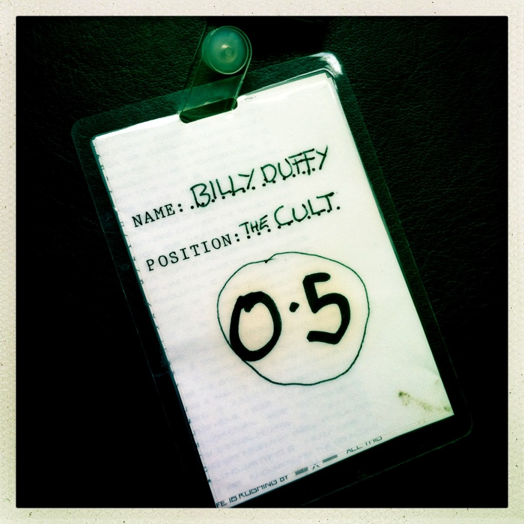 Billy Duffy's Laminate from The Cult Love Tour 1985 (back)