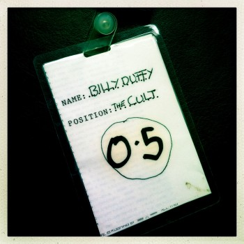 Billy's Laminate from The Cult Love Tour 1985 (back)