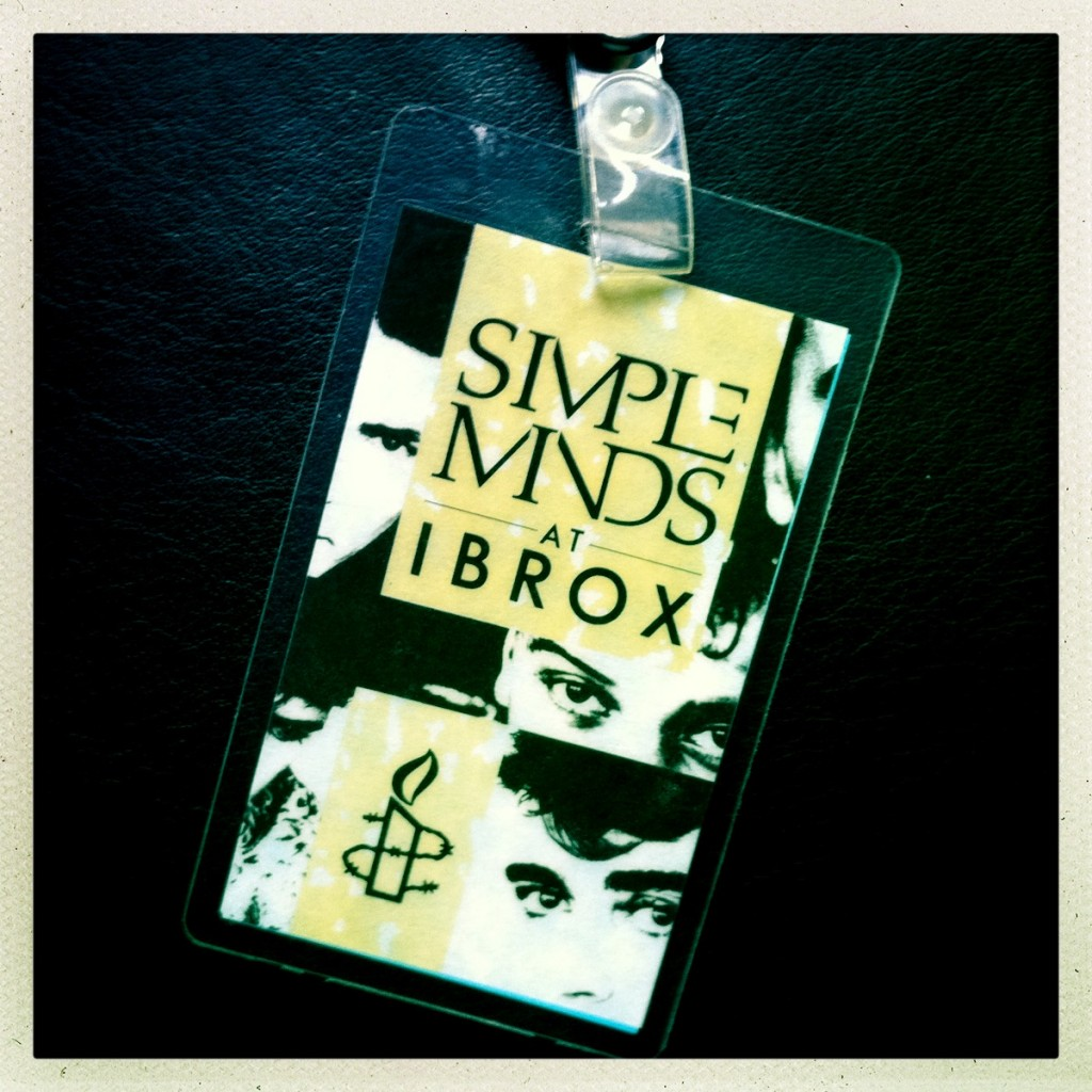 Billy's Laminate - The Cult supporting Simple Minds 07-06-1986