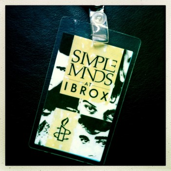 Billy's Laminate – The Cult supporting Simple Minds 07-06-1986