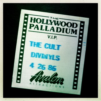 Guest Pass for The Cult 26-04-1986