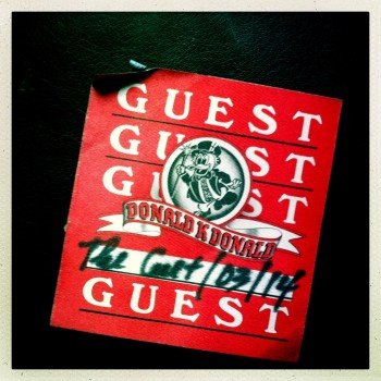 Guest Pass The Cult 14-03-1986