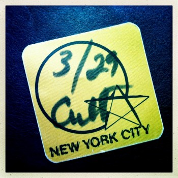 Guest Pass The Cult 29-03-1986