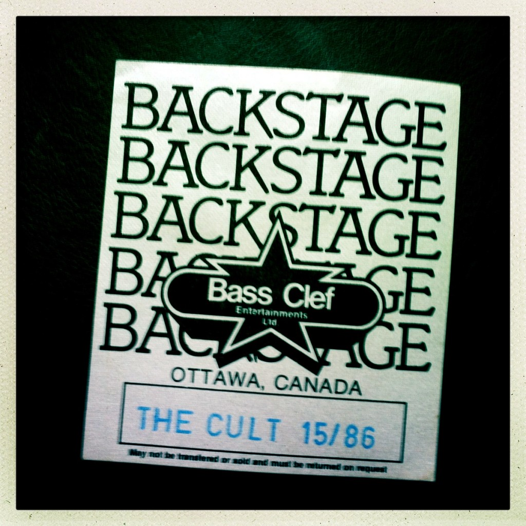 Backstage Pass for The Cult 26-03-1986