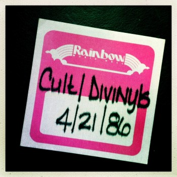 Guest Pass for The Cult 21-04-1986