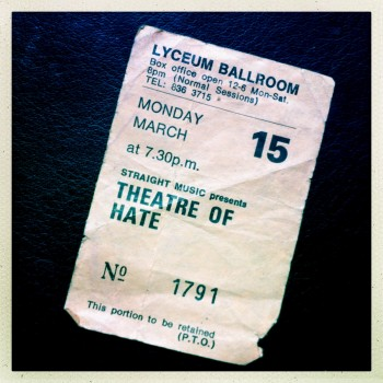 Theatre of Hate Gig Ticket – 15-03-1982