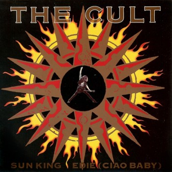 The Cult 'Sun King' single cover