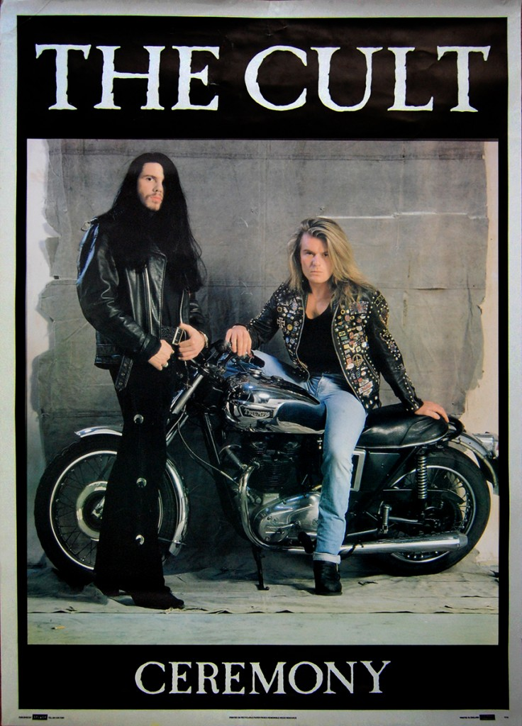 The Cult Ceremony Poster with Billy Duffy and Ian Astbury - 1991