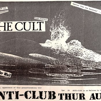 Flyer for impromptu show at Anti Club in LA – 1984