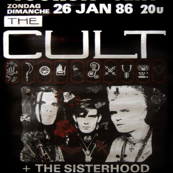 The Cult 'Love' Tour gig poster 26-01-1986