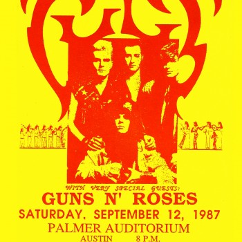 The Cult 'Electric' Tour Poster – 12-09-1987