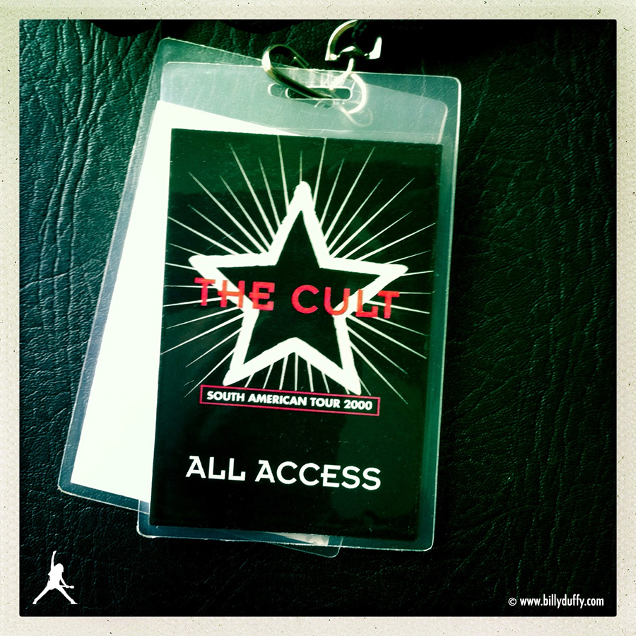 Billy's Laminate from The Cult 2000 South America Tour