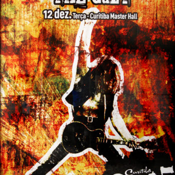The Cult gig poster Brasil 12-12-2006