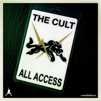 AAA laminate from The Cult 'Born Into This' Tour 2006