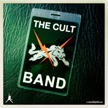Billy's laminate from The Cult 'Born Into This' Tour 2006