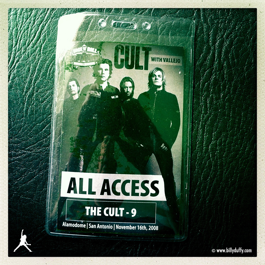 Billy's Pass from The Cult in San Antonio, Texas, 16-11-2008