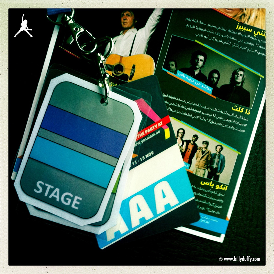 Laminate for The Cult at Abu Dhabi, United Arab Emirates, Yas Arena 2011-11-12