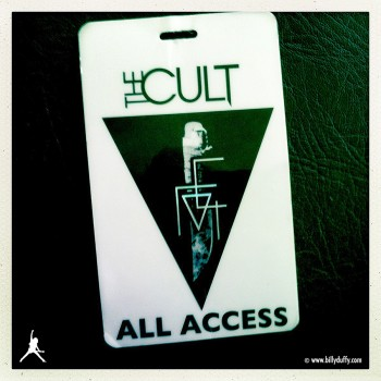 Laminate for The Cult Choice of Weapon tour 2012