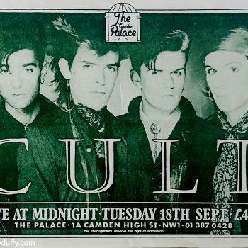 The Cult Flyer – London 1984