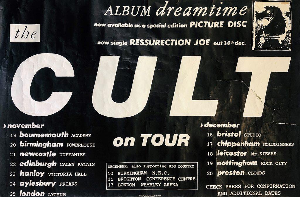 The Cult - Dreamtime Tour Poster 1984