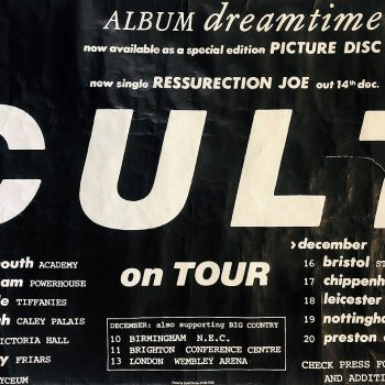The Cult – Dreamtime Tour Poster 1984