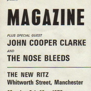 Billy's second and final gig with the Nosebleeds