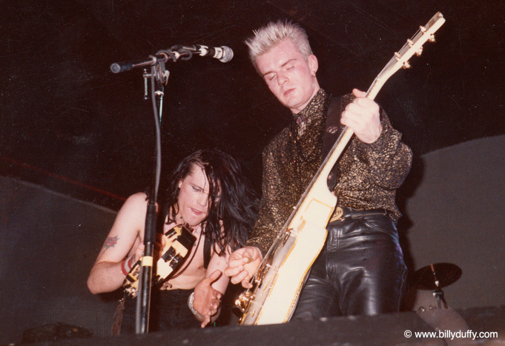 Billy & Ian onstage with The Cult - 1985