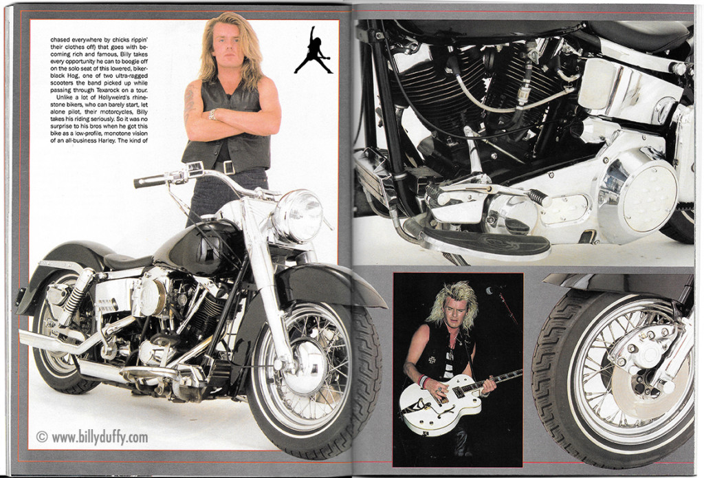 Billy's Harley in Supercyle Magazine - 1989