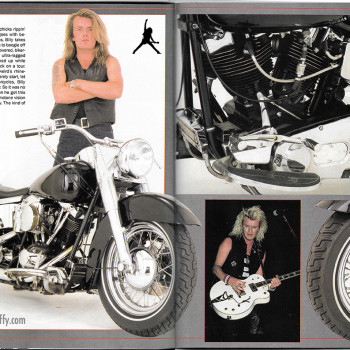 Billy's Harley in Supercyle Magazine – 1989