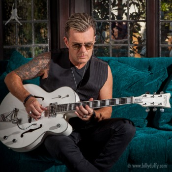 Billy Duffy and his signature Gretsch White Falcon